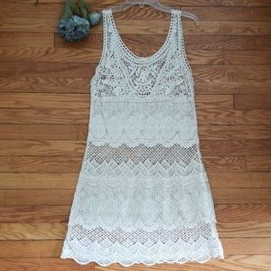 American Eagle Outfitters Crochet Tank Dress M/M
